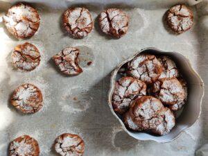 עוגיות שוקולד מושלגות קלות להכנה פרווה ללא גלוטן הנסיכה והעדשה בלוג אוכל כשר של נעמי מלאכי