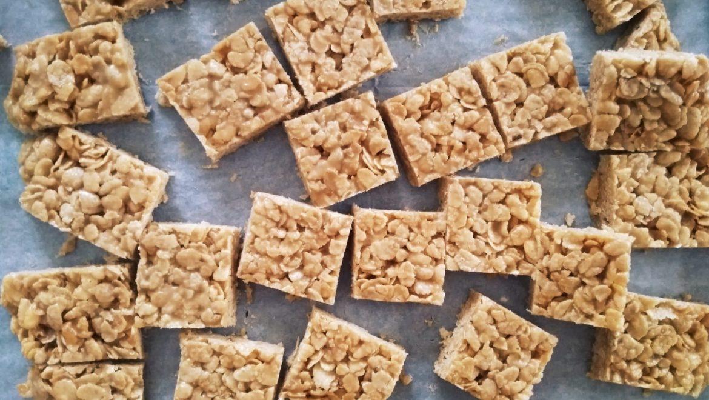 חטיף פצפוצי אורז וטחינה ללא סוכר